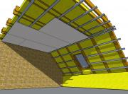 sadrokartónové konštrukcie - montážne práce, podkrovie